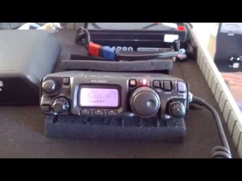 Yaesu 817ND indoor QRP contact (1000+ miles)