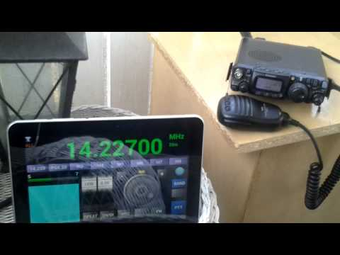 Android tablet controlling FT-817ND SSB 20m