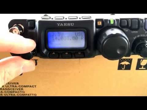 My new Yaesu FT-817ND AM listing on the porch