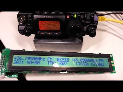 Twin Yaesu FT-8xx Satellite controller project, Demo