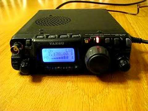 FT-817 QRP DX QSO Ontario Canada to Cuba Yaesu FT817
