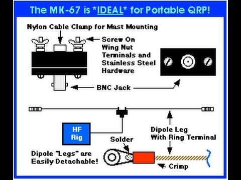 MK-67 QRP Mini Antenna Center Insulator for Dipole Antennas