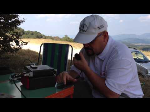 IK5YOJ/QRP in Qso with RN3GL testing his Buddipole antenna together with IK5ZUN