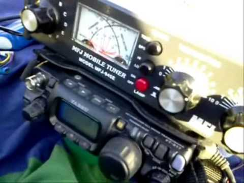 Testing the Yaesu FT 817 with vertical antenna