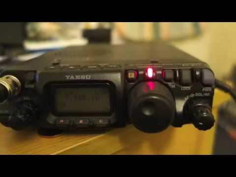 QRP Yaesu FT 817 ND - 5 watts and END FED antenna QSO DX 40 meters band