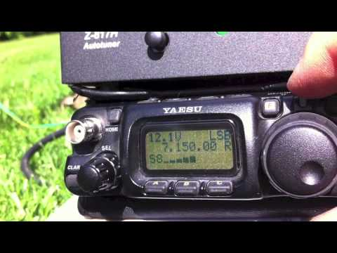 Test QRP YAESU FT-817ND + LDG-817H + ANTENNA CANNA DA PESCA