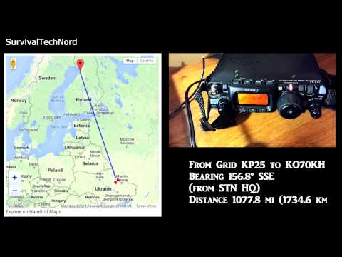 5 watt Range Test | Finland   Ukraine 1734km | Yaesu FT-817ND