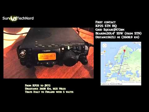 5 watt Range Test | Finland - Italy 2700km | Yaesu FT-817ND