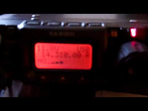 FT-817 QRP QSO KB1VXP (ME) to I5REA (ITALY) 5 Watts Miracle Whip Antenna
