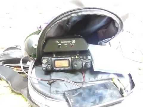 FT-817ND portable on a mountain peak