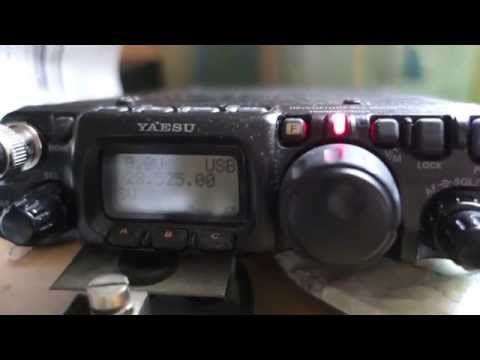 QRP Yaesu FT 817 - 5 watts with LNR precision END-FED antenna WARC - QSO DX