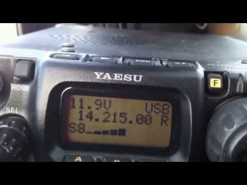 XE1QQ caught on my Yaesu FT-817 and mirical whip antenna