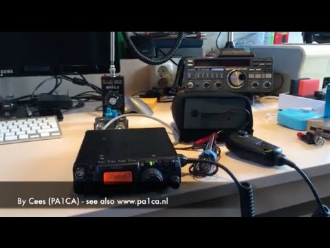 My First QSO with the Miracle Whip Antenna