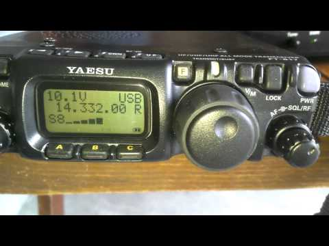 Yaesu FT-817 with a Greatlakes Vertical.