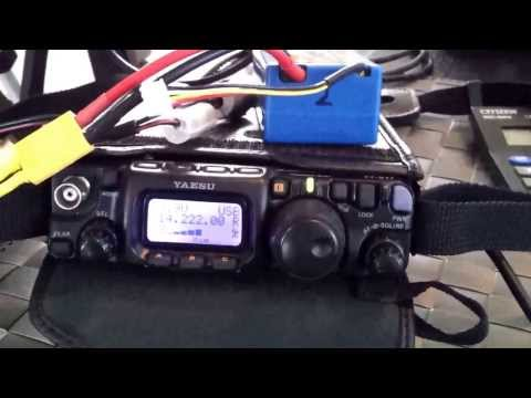 VK3XPT QRP with G2YT - using the FT817 and AlexLoop from indoors!