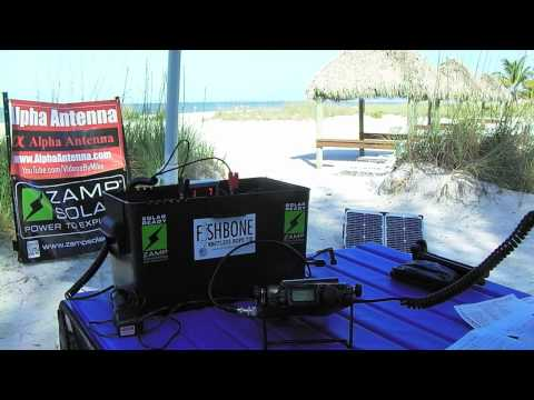 Testing The Alpha Loop Jr Antenna 5 Watts QRP From Fort Meyers Beach 5- 18- 2015