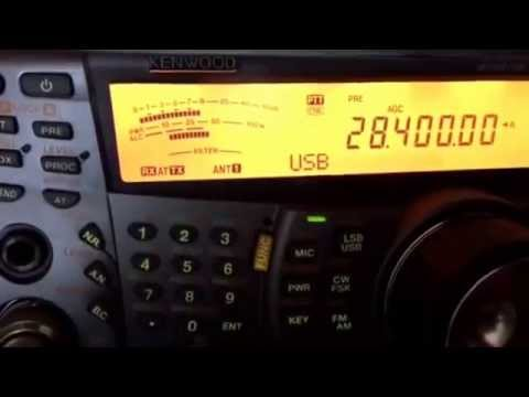 M0JDP on yaesu ft817 in garden