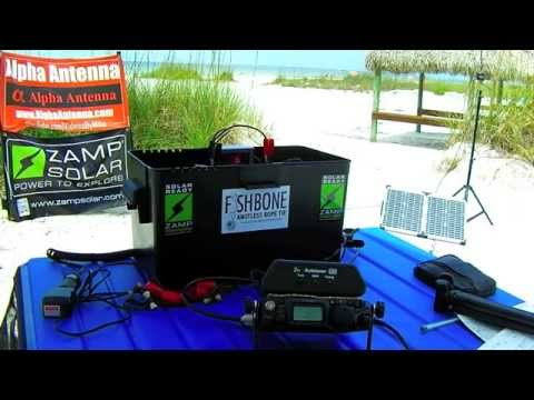 Testing The Alpha EZ Military Antenna 5 Watts QRP From Fort Meyers Beach 5-18-2015