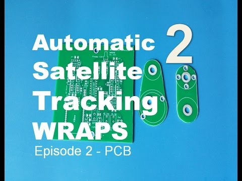 Ham Radio Portable Satellite Tracking System WRAPS - EP2 Cutting the PCB