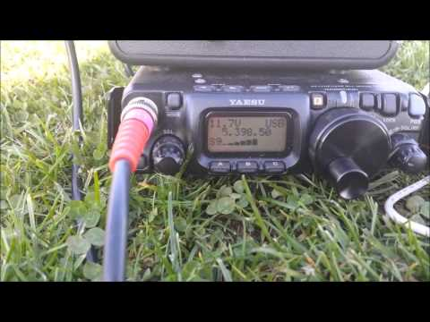 FT817 Portable with Home Brew Antenna