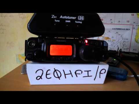 QRP Contact with VE2BWL Guy in Canada Yaesu ft-817 9/11/15