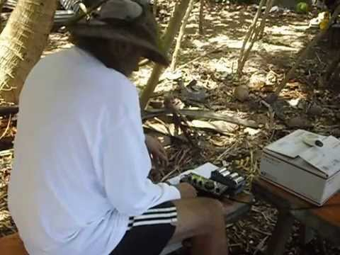 WBØJNR operating portable KHØ on Agrigan Island with QRP CW
