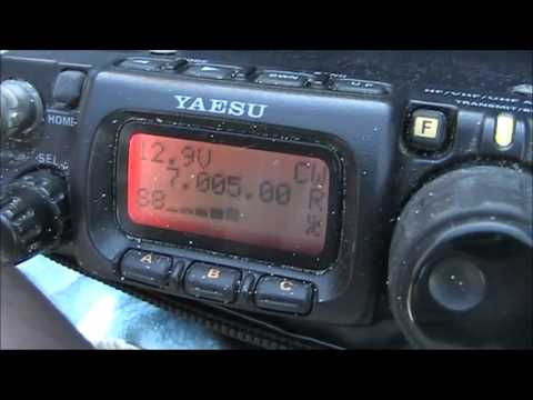 Kite antenna 7 MHz DX contact with UA0ZC