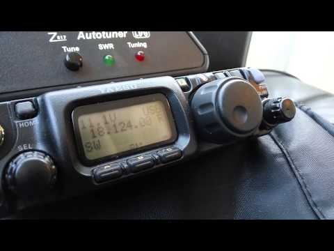FT-817nd QRP 1W: QSO with EA8JK