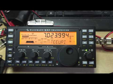 Elecraft KX3 - Test today on 40m and CW