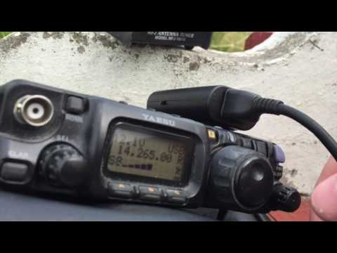 QRP Portable 20m HF contacts by the water / Yaesu FT-817