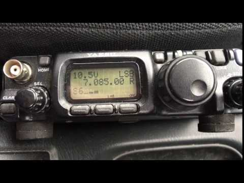 FT817 on 40m Mobile