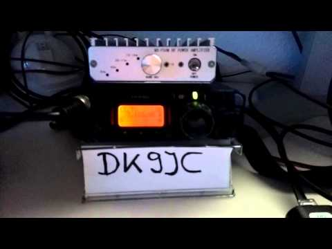 DK9JC testing with 2E0HPI MX-P50M QRP amplifier for FT-817