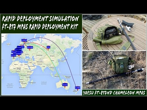 Ham Radio Rapid Deployment Simulation with Yaesu FT-817ND & Chameleon MPAS