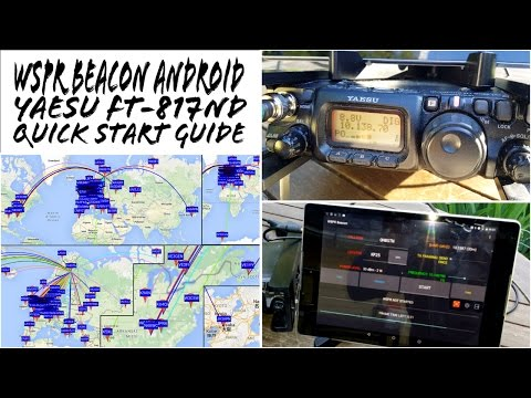 WSPR Beacon Yaesu FT-817ND Android Quick Start Guide