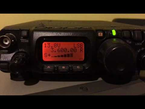 FT817 and Diamond W735 Dipole receiving VK5SFA on 3m magnetic loop