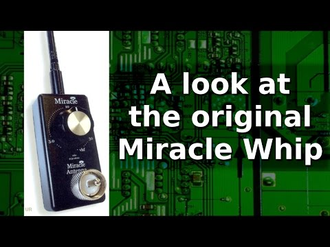 Ham Radio - The original Miracle Whip antenna.  Overview and some tests