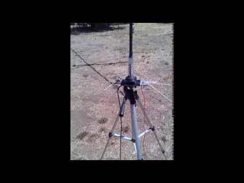 FT-817 and testing mobile 40m whip antenna for portable.