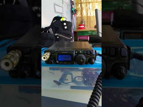 Yaesu FT 817 portable,bad conditions,hard to work