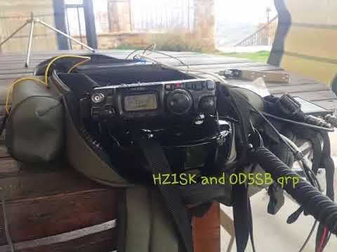 QSO HZ1SK and OD5SB qrp ft-817 nd