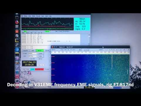 W2NNN's 144Mhz EME with FT-817nd & 17b2 Yagi