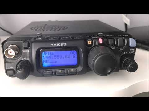 Yaesu FT817ND 144 MHz AM QSO with Kevin MX0YHA/P