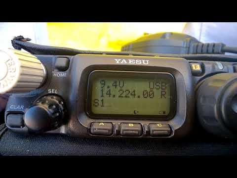 Yaesu FT-817ND Receiving JAPAN on the Beach #1