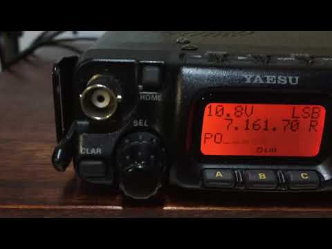 SotaBeams Speech Compressor and a Yaesu FT-817 QSO with KF4IZE